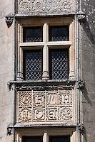 Europe/France/Aquitaine/24/Dordogne/ Villars: Château de Puyguilhem, style renaissance - détail de la façade
