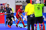 Kenta Tanaka (JPN), <br /> SEPTEMBER 1, 2018 - Hockey : <br /> Men's Final match between <br /> Japan 6-6(3-1) Malaysia <br /> at Gelora Bung Karno Hockey Field <br /> during the 2018 Jakarta Palembang Asian Games <br /> in Jakarta, Indonesia. <br /> (Photo by Naoki Nishimura/AFLO SPORT)