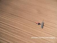 63801-10105 Farmer planting corn-aerial Marion Co. IL