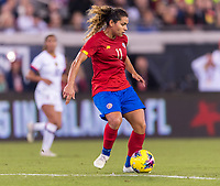 , FL - : Raquel Rodriguez #11 of Costa Rica passes the ball during a game between  at  on ,  in , Florida.