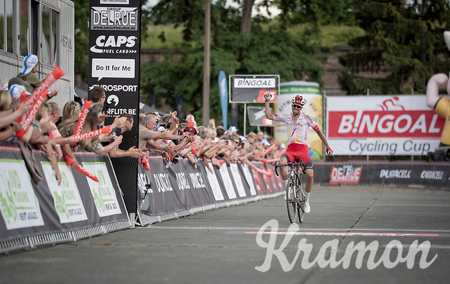 Kenneth Vanbilsen (BEL/Cofidis) winning Dwars door het Hageland 2019 (1.1)<br /> <br /> 1 day race from Aarschot to Diest (BEL/204km)<br /> <br /> ©kramon