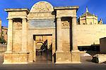 Sixteenth century Renaissance gate Puerta del Puente historic gateway, Cordoba, Spain