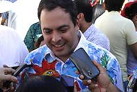 RECIFE-PE-06.02.2016- CARNAVAL-PE- O governador de Pernambuco Paulo Câmara durante café da manhã  na concentração do Galo da Madrugada, maior bloco de carnaval do mundo, no centro de Recife, neste sábado, 06.(Foto: Jean Nunes/Brazil Photo Press)
