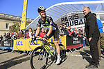 Tylar Farrar (USA) Team Dimension Data at sign on for the 115th edition of the Paris-Roubaix 2017 race running 257km Compiegne to Roubaix, France. 9th April 2017.<br /> Picture: Eoin Clarke | Cyclefile<br /> <br /> <br /> All photos usage must carry mandatory copyright credit (&copy; Cyclefile | Eoin Clarke)