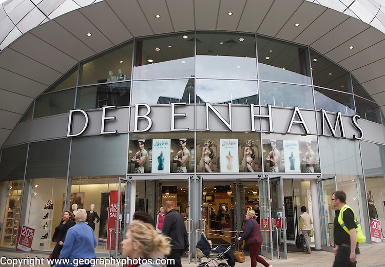 Debenhams department store shop, Bury St Edmunds, Suffolk, England