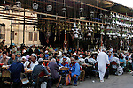 Egyptian people getting ready for break their fast at the dinner table, in Cairo on 26 July 2012.  Egyptians prepare to have an break their fast meal during fasting holy month of Ramadan, which is the Muslim month of fasting, in which Muslims refrain from dawn until sunset from eating, drinking, and sexual relations. Photo by Amr Mostafa