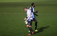 Jason McCarthy of Wycombe Wanderers puts on the Goalkeeper shirt and gloves as he heads to replace Goalkeeper Matt Ingram of Wycombe Wanderers who is sent off during the Sky Bet League 2 match between Wycombe Wanderers and Morecambe at Adams Park, High Wycombe, England on 2 January 2016. Photo by Kevin Prescod / PRiME Media Images