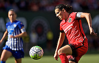 Portland, Oregon - Sunday September 4, 2016: Portland Thorns FC forward Christine Sinclair (12) during a regular season National Women's Soccer League (NWSL) match at Providence Park.