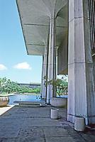Honolulu: Hawaii State Capitol, 1968. Reflecting pool in background. Photo '82.