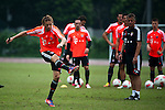 GUANGZHOU, GUANGDONG - JULY 26:  Anatoliy Tymoshchuk of Bayern Munich during a training session ahead the friendly match against VfL Wolfsburg as part of the Audi Football Summit 2012 on July 26, 2012 at the Tianhe Sports Stadium in Guangzhou, China. Photo by Victor Fraile / The Power of Sport Images