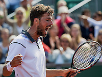 The Hague, Netherlands, 31 July, 2016, Tennis,  The Hague Open, Robin Haase (NED) jubilates his tournament victory over AdamPavlasek (CZE)<br /> Photo: Henk Koster/tennisimages.com