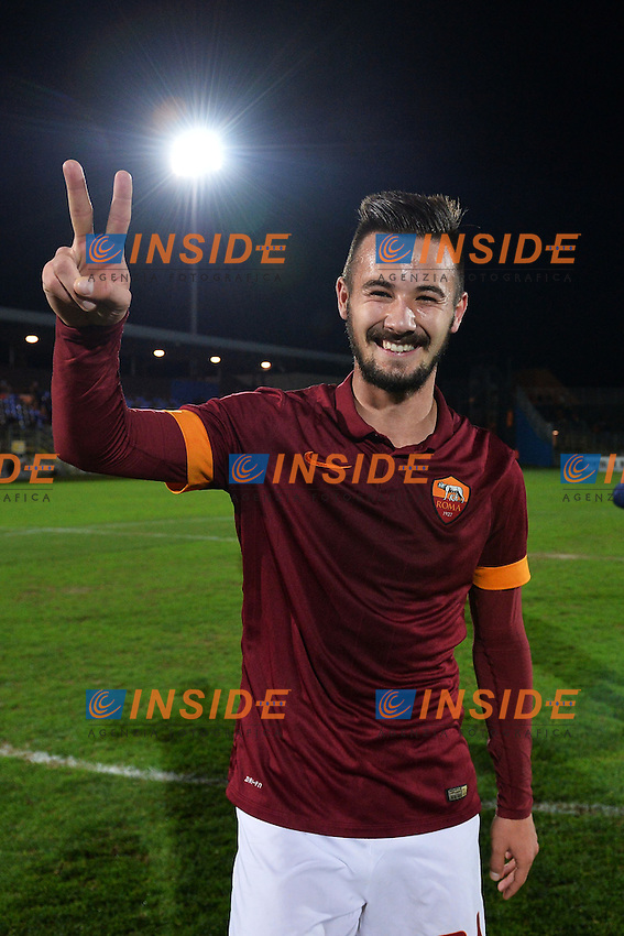 Esultanza Tomas Vestenicky Roma celebration <br /> Latina 17-03-2015 Stadio Domenico Francioni Football Calcio Youth Champions League 2014/2015 AS Roma - Manchester City. Foto Andrea Staccioli / Insidefoto