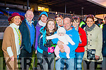 Margaret Daly, Joe Sullivan Mary O'Sullivan Maeve and Aoife Daly Aoibheann McGillycuddy, Dermot McGillycuddy, Julianne McGillycuddy and Maura Keane, South Kerry supporters enjoying the atmosphere at the South Kerry v Legion final at Fitzgerald Stadium, Killarney on Sunday last.
