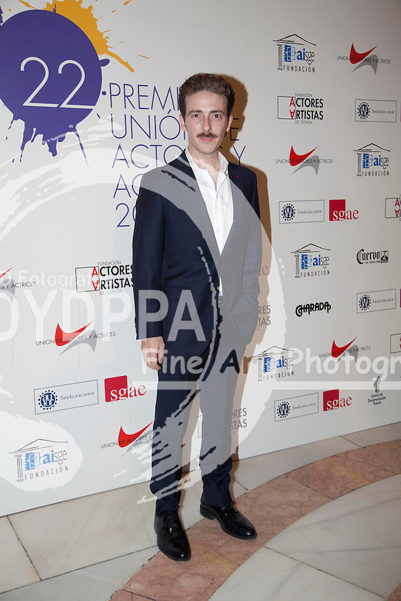 03/06/2013 Madrid, Spain Photocall 22 edición de los premios de la Union de Actores en la foto Victor Clavijo, la entrega de premios se ha realizado en el Teatro Arteria Coliseum (C) Nacho Lopez/ DyD Fotografos