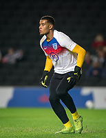 Goalkeeper Ellery Balcombe (Denmark Viborg (on loan from Brentford) of England U21 pre match during the UEFA Euro U21 International qualifier match between England U21 and Austria U21 at Stadium MK, Milton Keynes, England on 15 October 2019. Photo by Andy Rowland.