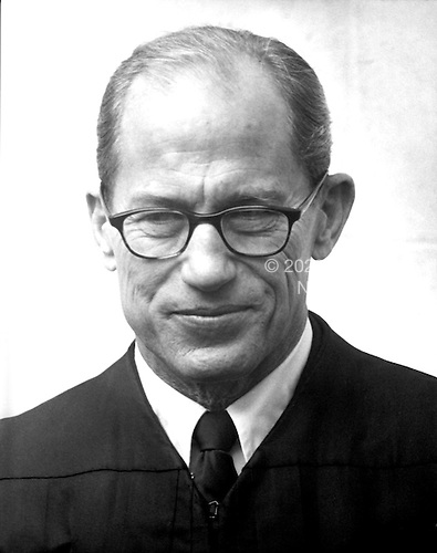 "Associate Justice of the United States Supreme Court Byron R. ""Whizzer"" White poses for a photo during a photo-op at the U.S. Supreme Court in Washington, D.C. on Friday, October 9, 1970.  White was appointed in 1962 by U.S. President John F. Kennedy..Credit: Benjamin E. ""Gene"" Forte / CNP"