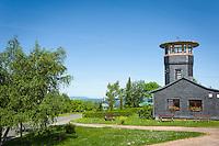 Germany; Free State of Thuringia, near Oberhain: Barigau Hights with Barigau Tower | Deutschland, Freistaat Thueringen, bei Oberhain: Die Barigauer Hoehe und der Barigauer Turm
