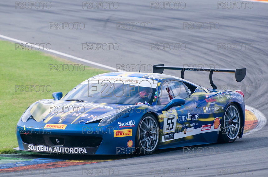 VALENCIA, SPAIN - OCTOBER 2: Babalus during Valencia Ferrari Challenge 2015 at Ricardo Tormo Circuit on October 2, 2015 in Valencia, Spain