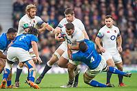 Twickenham, Surrey. UK.Ellis GENGE, running free, during the England vs Samoa, Autumn International. Old Mutual Wealth Series. RFU Stadium, Twickenham. Surrey, England.<br /> <br /> Saturday  25.11.17  <br /> <br /> [Mandatory Credit Peter SPURRIER/Intersport Images]