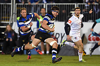 Josh Bayliss of Bath Rugby goes on the attack. Anglo-Welsh Cup match, between Bath Rugby and Leicester Tigers on November 10, 2017 at the Recreation Ground in Bath, England. Photo by: Patrick Khachfe / Onside Images