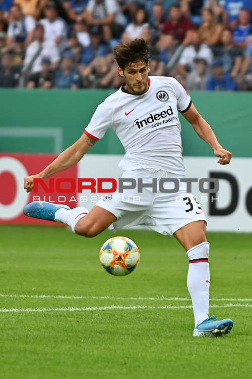 11.08.2019, Carl-Benz-Stadion, Mannheim, GER, DFB Pokal, 1. Runde, SV Waldhof Mannheim vs. Eintracht Frankfurt, <br /> <br /> DFL REGULATIONS PROHIBIT ANY USE OF PHOTOGRAPHS AS IMAGE SEQUENCES AND/OR QUASI-VIDEO.<br /> <br /> im Bild: Goncalo Paciencia (Eintracht Frankfurt #39)<br /> <br /> Foto © nordphoto / Fabisch