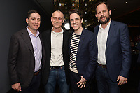 """NEW YORK - APRIL 7: (L-R) Eric Schrier, Joel Fields, Steven Levenson and Nick Grad  attend the screening of FX's """"Fosse Verdon"""" presented by FX Networks, Fox 21 Television Studios, and FX Productions at the Museum of Modern Art on April 7, 2019 in New York City. (Photo by Anthony Behar/FX/PictureGroup)"""