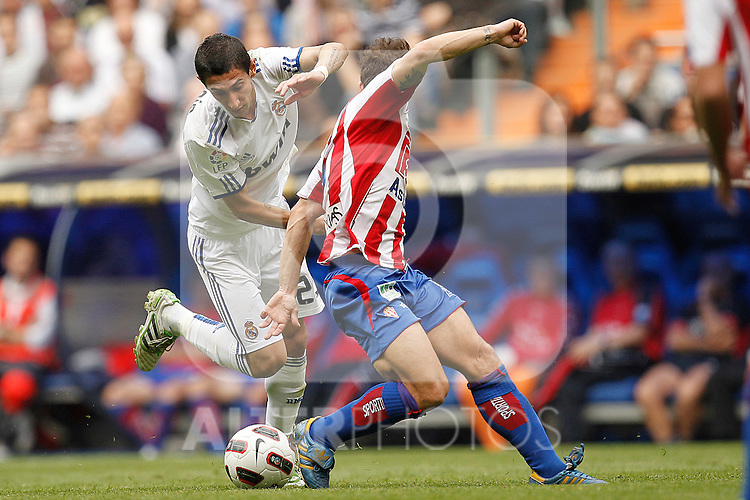 Real Madrid's Angel Di Maria during la Liga match on March 2nd 2011...Photo: Cesar Cebolla / ALFAQUI