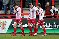 Dean Bowditch of Stevenage scores the first goal for his team and celebrates during Stevenage vs Crewe Alexandra, Sky Bet EFL League 2 Football at the Lamex Stadium on 10th March 2018