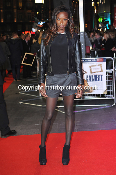 NON EXCLUSIVE PICTURE: PAUL TREADWAY / MATRIXPICTURES.CO.UK.PLEASE CREDIT ALL USES..WORLD RIGHTS..British cook Lorraine Pascale attending the world premiere of Gambit, at Empire Leicester Square, London...NOVEMBER 7th 2012..REF: PTY 125115