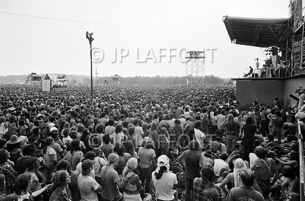 "28 Jul 1973, Watkins Glen, New York State, USA --- 600,000 people came to Watkins Glen during the ""Summer Jam"". --- Image by © JP Laffont"