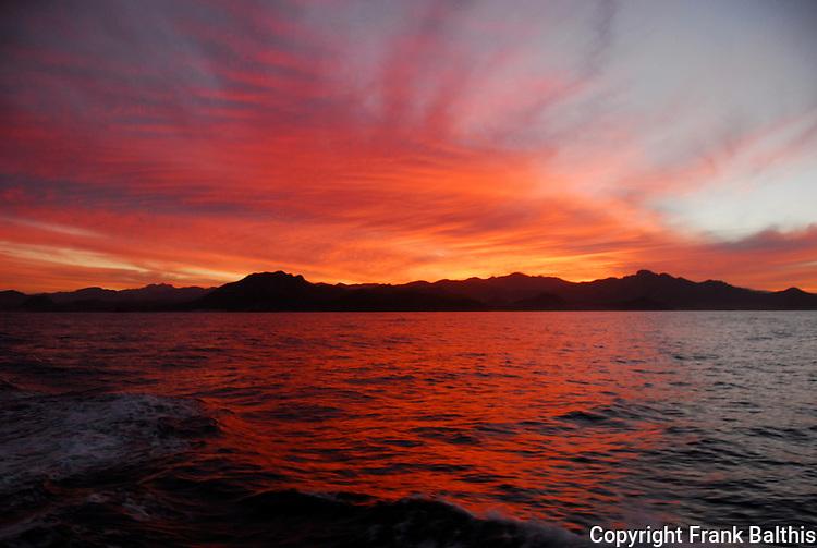 Sunset near Cabo Pulmo