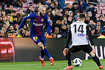 Aleix Vidal of FC Barcelona (L) in action against Jose Luis Gaya of Valencia CF (R) during the Copa Del Rey 2017-18 match between FC Barcelona and Valencia CF at Camp Nou Stadium on 01 February 2018 in Barcelona, Spain. Photo by Vicens Gimenez / Power Sport Images