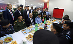 Palestinian Prime Minister Rami Hamdallah takes part in breakfast with security forces on the Muslim holy fasting month of Ramadan, in the West Bank city of Jenin on June 18, 2017. Photo by Prime Minister Office