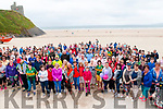Pictured at the start of the charity walk in aid of Aoibheann's Pink Tie charity on the beach in Ballybunion on Sunday afternoon last.