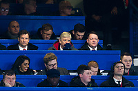 Arsenal manager Arsene Wenger looks on from the press box <br /> <br /> Photographer Craig Mercer/CameraSport<br /> <br /> The Carabao Cup - Semi-Final 1st Leg - Chelsea v Arsenal - Wednesday 10th January 2018 - Stamford Bridge - London<br />  <br /> World Copyright &copy; 2018 CameraSport. All rights reserved. 43 Linden Ave. Countesthorpe. Leicester. England. LE8 5PG - Tel: +44 (0) 116 277 4147 - admin@camerasport.com - www.camerasport.com