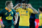 9th September 2017, nib Stadium, Perth, Australia; Supersport Rugby Championship, Australia versus South Africa; Israel Folau of the Australian Wallabies contemplates the drawn game after the final siren