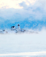 Sea Smoke at Nubble Light