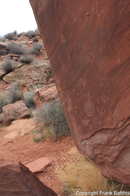 South entrance of Zion NP petroglyph