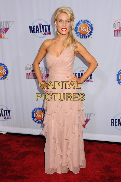 GRETCHEN ROSSI.2009 Fox Reality Channel Really Awards held at the Music Box Theatre, Hollywood, California, USA..October 13th, 2009.full length pink one shoulder sheer layers layered dress hands on hips .CAP/ADM/BP.©Byron Purvis/AdMedia/Capital Pictures.