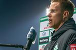 IM INTERVIEW NACH DEM SPIEL<br /> Niklas Moisander (Werder Bremen #18 Kapitaen)<br /> <br /> <br /> Sport: Fussball: 1. Bundesliga: Saison 19/20: <br /> 26. Spieltag: SV Werder Bremen vs Bayer 04 Leverkusen, 18.05.2020<br /> <br /> Foto ©  gumzmedia / Nordphoto / Andreas Gumz / POOL <br /> <br /> Nur für journalistische Zwecke! Only for editorial use!<br />  DFL regulations prohibit any use of photographs as image sequences and/or quasi-video.