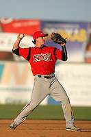 May 2, 2010: Drew Cumberland of the Lake Elsinore Storm during game against the Lancaster JetHawks at Clear Channel Stadium in Lancaster,CA.  Photo by Larry Goren/Four Seam Images