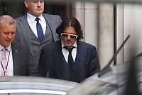JUL 07 Johnny Depp at The Royal Courts of Justice, London, UK