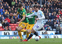 Blackburn Rovers' Danny Graham holds off the challenge from Preston North End's Jordan Storeys <br /> <br /> Photographer Rich Linley/CameraSport<br /> <br /> The EFL Sky Bet Championship - Blackburn Rovers v Preston North End - Saturday 9th March 2019 - Ewood Park - Blackburn<br /> <br /> World Copyright © 2019 CameraSport. All rights reserved. 43 Linden Ave. Countesthorpe. Leicester. England. LE8 5PG - Tel: +44 (0) 116 277 4147 - admin@camerasport.com - www.camerasport.com