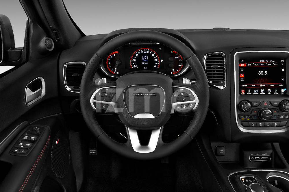 Car pictures of steering wheel view of a 2015 Dodge Durango R/T-RWD 5 Door SUV Steering Wheel