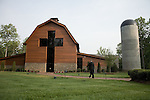 Thursday, May 31, Charlotte, North Carolina. Dedication of the new Billy Graham Library in Charlotte, North Carolina.. The facade of the new library contains a 40 ft. cross shaped entry into the lobby of the museum.