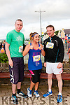 Tadhg O'Sullivan, Mary Ahern (Farranfore) and Donal Walsh (Daingean Uí Chúis) at the start of the Dingle Marathon on Saturday.
