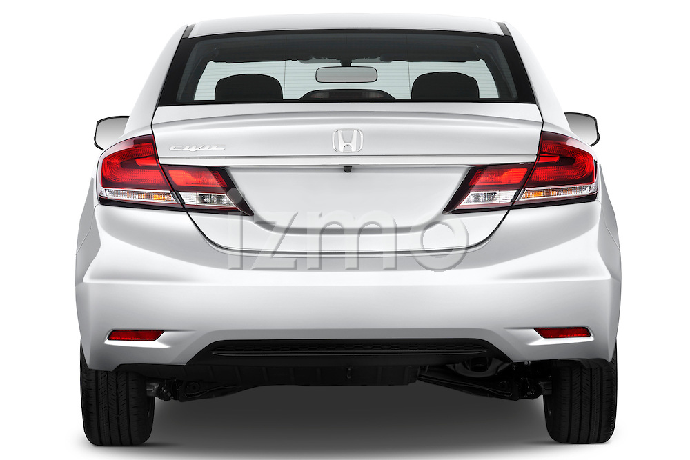 Straight rear view of a   2013 Honda Civic Sedan EX Sedan