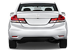 Straight rear view of a   2013 Honda Civic Sedan EX Sedan