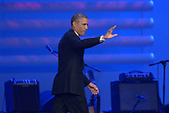 Washington, DC - October 2, 2014: U.S. President Barack Obama waves to the audience after addressing the Congressional Hispanic Caucus Institute's annual Awards Gala at the Washington Convention Center in the District of Columbia, October 2, 2014.  (Photo by Don Baxter/Media Images International)