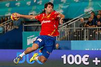 19.01.2013 World Championshio Handball. Match between Spain vs Croatia (25-27) at the stadium La Caja Magica. The picture show  Carlos Ruesga Pasarin (Left Back of Spain)